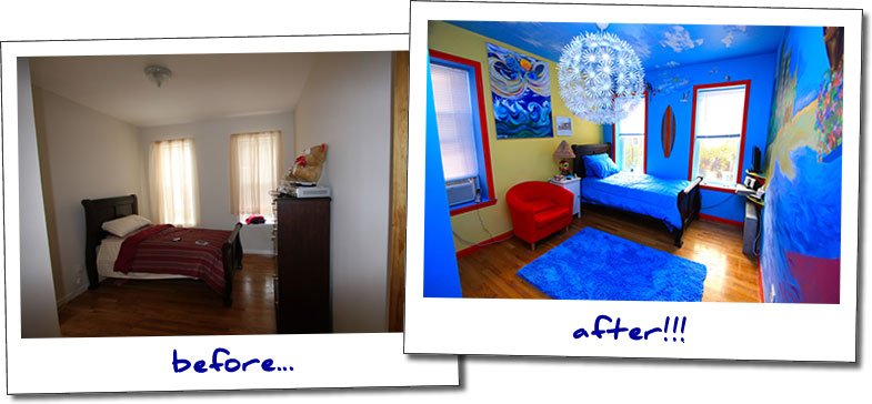 bedroom before and after makeover