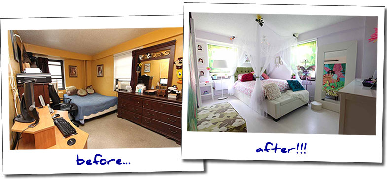 Bedroom Makeovers Before And After melissa's bedroom makeover | blissfulbedrooms