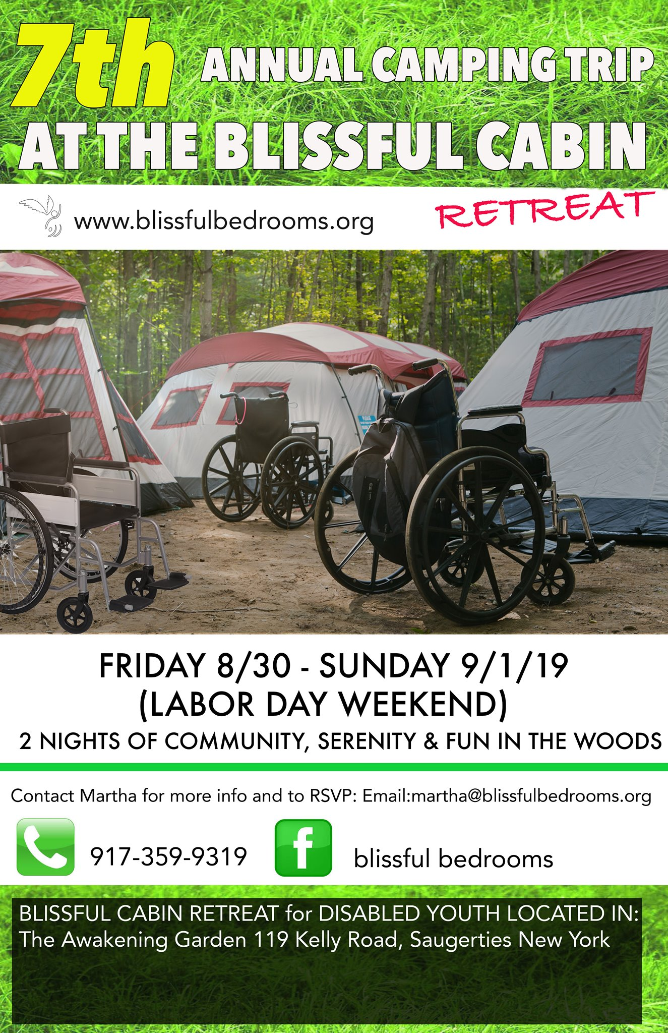 Camping trip flyer 2019