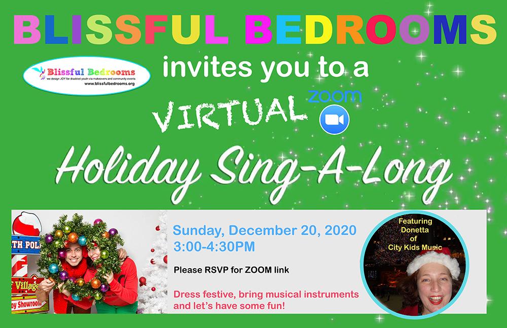 BB Virtual Holiday Sing-a-long flyer